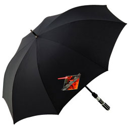 スターウォーズ ライトセイバー型傘 レインセーバーは梅雨の日もベーダー気分満喫