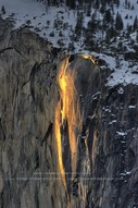 YosemiteRed horse tail fall <赤い馬の尾滝>
