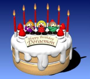 ドラえもん 誕生日!2112年9月3日誕生!
